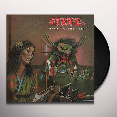 Strife BACK TO THUNDER Vinyl Record