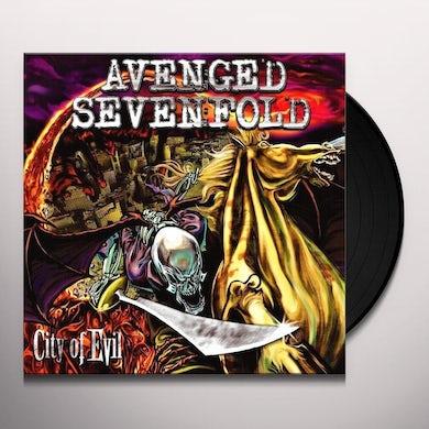 Avenged Sevenfold CITY OF EVIL (TRANSPARENT RED VINYL) Vinyl Record
