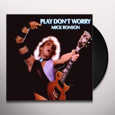 Mick Ronson PLAY DON'T WORRY (BLUE & WHITE SWIRL) Vinyl Record