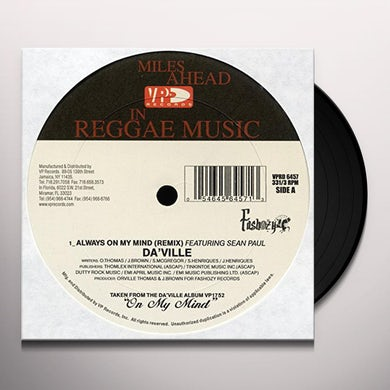 Daville ON MY MIND (RX) S PAUL Vinyl Record