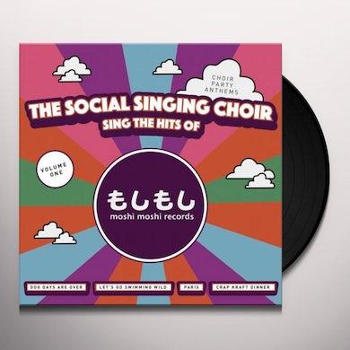Social Singing Choir SINGS THE HITS OF MOSHI MOSHI RECORDS Vinyl Record