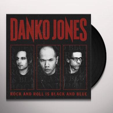 Danko Jones ROCK & ROLL IS BLACK & BLUE Vinyl Record