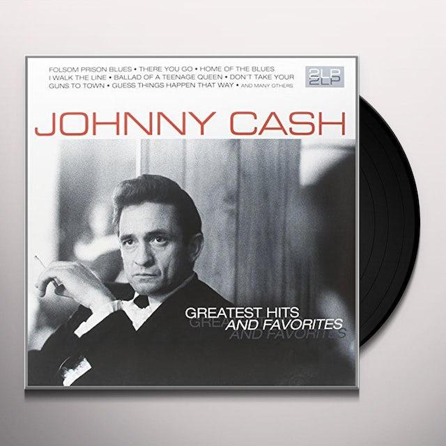 Johnny Cash GREATEST HITS & FAVORITES Vinyl Record