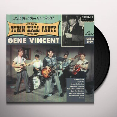 Gene Vincent LIVE AT TOWN HALL PARTY 1958 & 1959 Vinyl Record