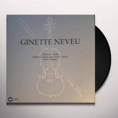 Ginette Neveu CHAUSSON POE DEBUSSY VIOL Vinyl Record