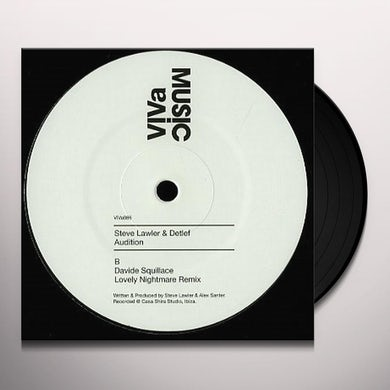 Steve Lawler & Detlef AUDITION Vinyl Record