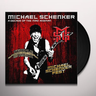 The Michael Schenker Group DECADE OF THE MAD AXEMAN (THE STUDIO RECORDINGS) Vinyl Record