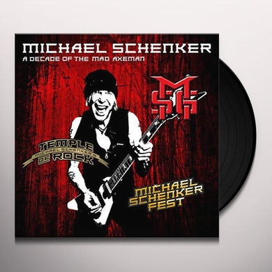 The Michael Schenker Group DECADE OF THE MAD AXEMAN (LIVE RECORDINGS) Vinyl Record