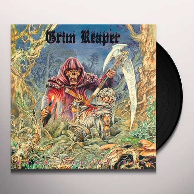Grim Reaper ROCK YOU TO HELL Vinyl Record - UK Release