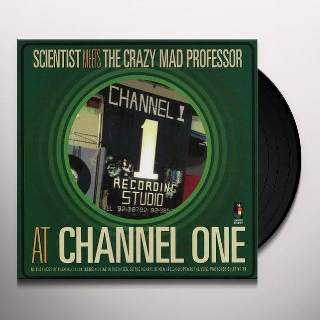 Scientist Meets The Crazy Mad Professor AT CHANNEL ONE Vinyl Record