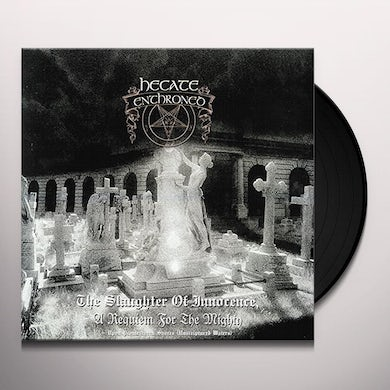 Hecate Enthroned SAUGHTER OF INNOCENCE / UPON PROMEATHEAN SHORES Vinyl Record