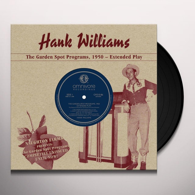 Hank Williams GARDEN SPOT PROGRAMS 1950 Vinyl Record