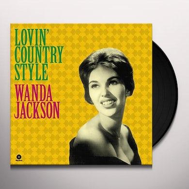Wanda Jackson LOVIN COUNTRY STYLE + 3 BONUS TRACKS Vinyl Record - 180 Gram Pressing, Spain Release
