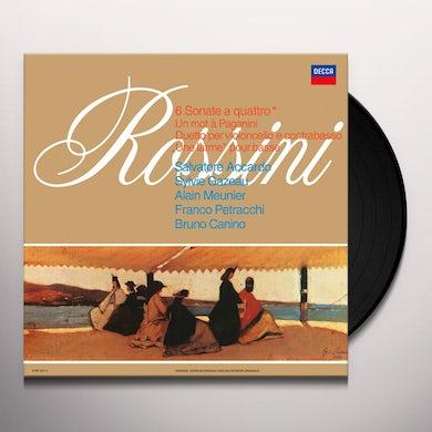 Salvatore Accardo / Sylvie Cazeau ROSSINI: 6 SONATE A QUATTRO Vinyl Record