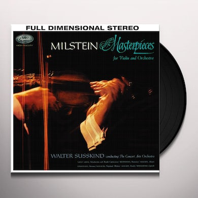 Nathan Milstein MASTERPIECES FOR VIOLIN & ORCHESTRA Vinyl Record