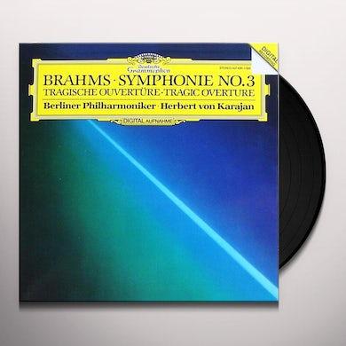 Herbert Von Karajan / Berlin Philharmonic SYMPHONY NO. 3, TRAGIC OVERTURE Vinyl Record