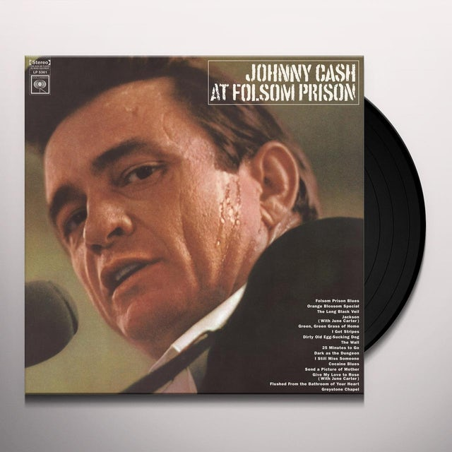 Johnny Cash AT FOLSOM PRISON Vinyl Record