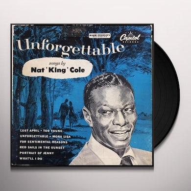 Nat King Cole Unforgettable Vinyl Record