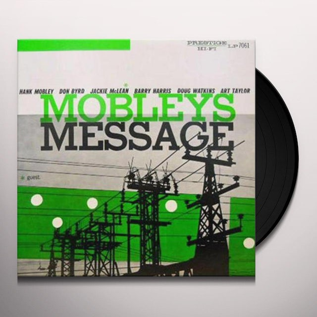 Hank Mobley MOBLEY'S MESSAGE Vinyl Record - Limited Edition, 200 Gram Edition