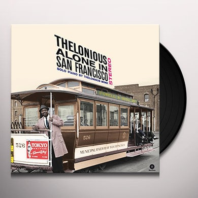 Thelonius Monk ALONE IN SAN FRANCISCO + BONUS TRACKS Vinyl Record - Spain Release