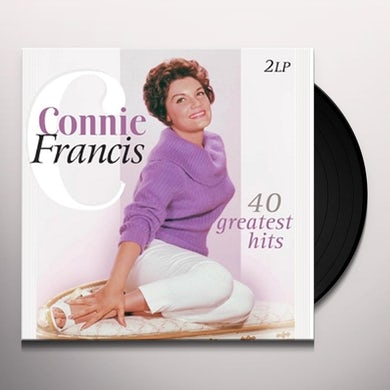 Connie Francis 40 GREATEST HITS Vinyl Record