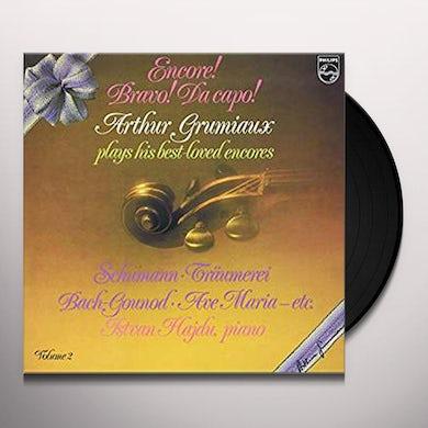 ENCORE! BRAVO! DA CAPO! ARTHUR GRUMIAUX PLAYS HIS BEST LOVED ENCORES VOL. 2 (180G) Vinyl Record