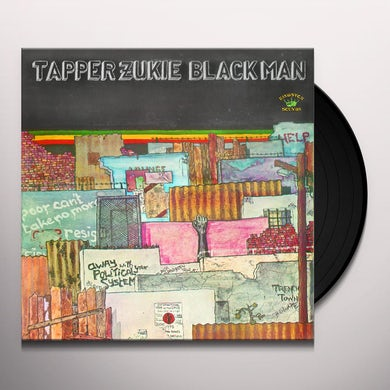 Tapper Zukie BLACK MAN Vinyl Record
