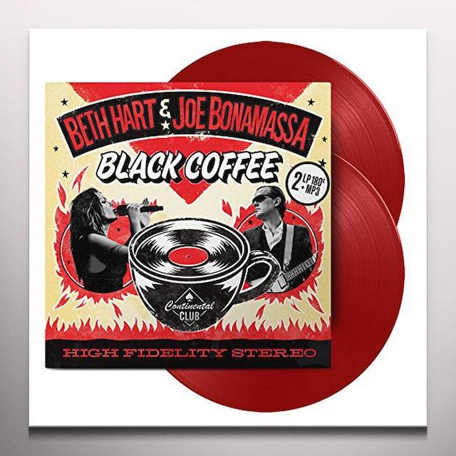Beth Hart / Joe Bonamassa BLACK COFFEE Vinyl Record - Colored Vinyl, Red Vinyl, UK Release