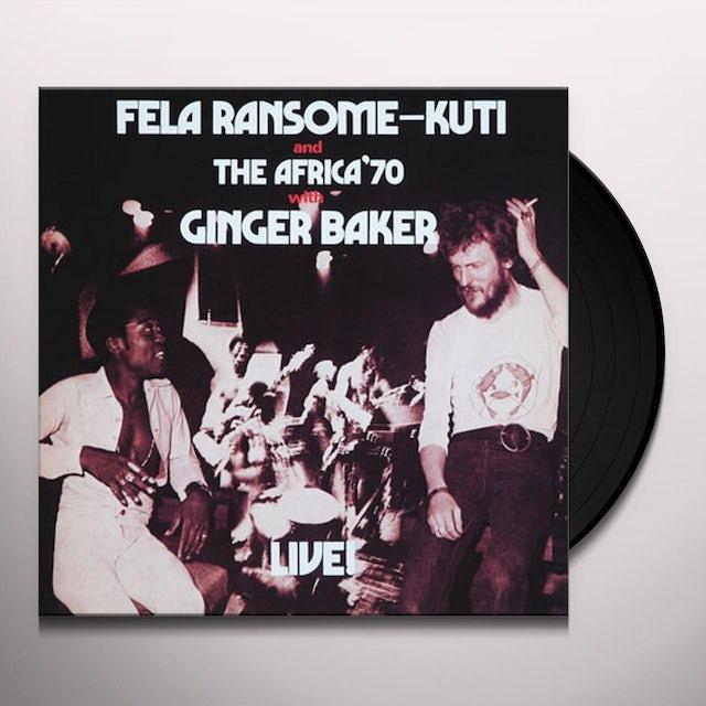 Fela Kuti FELA LIVE WITH GINGER BAKER Vinyl Record