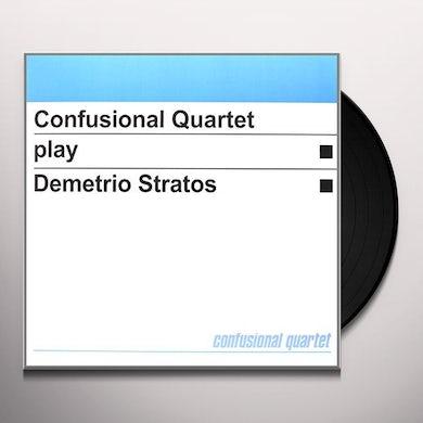 Confusional Quartet PLAY DEMETRIO STRATOS Vinyl Record