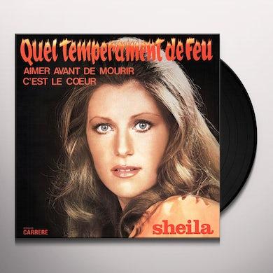 Sheila QUEL TEMPERAMENT DE FEU Vinyl Record