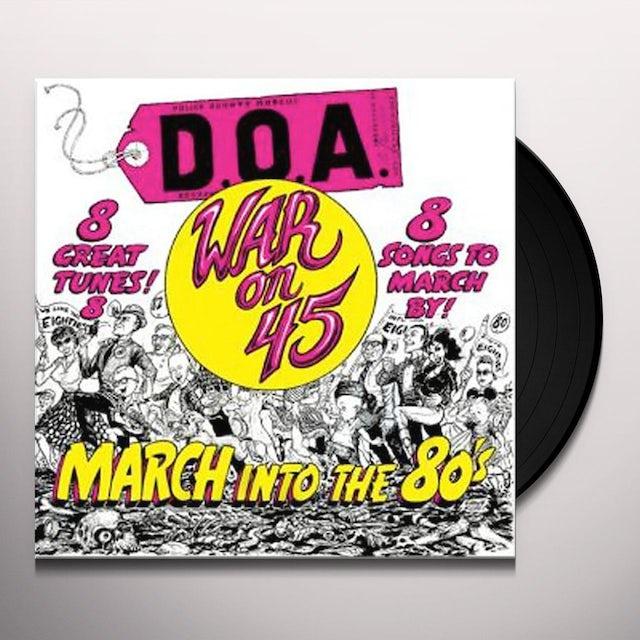 Doa WAR ON 45 Vinyl Record