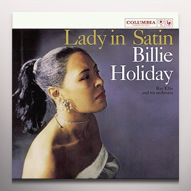 Billie Holiday LADY IN SATIN Vinyl Record - Blue Vinyl, Colored Vinyl, Limited Edition, 180 Gram Pressing, Remastered