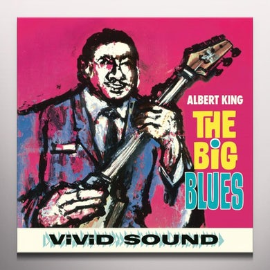 Albert King BIG BLUES  (BONUS TRACKS) Vinyl Record - Blue Vinyl, Colored Vinyl, Limited Edition, 180 Gram Pressing