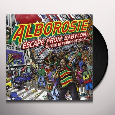 Alborosie ESCAPE FROM BABYLON TO THE KINGDOM OF ZION Vinyl Record