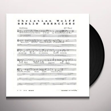 Christian Wolff BERLIN EXERCISES Vinyl Record