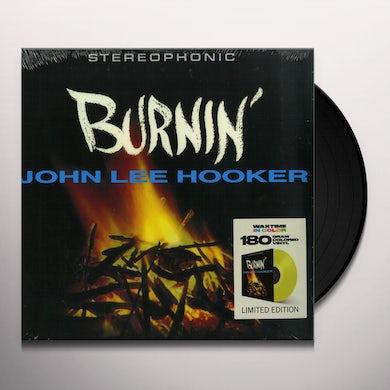 John Lee Hooker BURNIN Vinyl Record - Colored Vinyl, 180 Gram Pressing, Yellow Vinyl, Spain Release