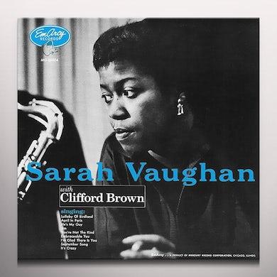 Sarah Vaughan WITH CLIFFORD BROWN Vinyl Record - Blue Vinyl, Colored Vinyl