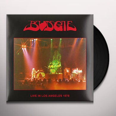 Budgie LIVE IN LOS ANGELES 1978 Vinyl Record