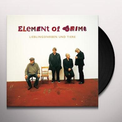 Element Of Crime LIEBLINGS FARBEN UND TIERE Vinyl Record