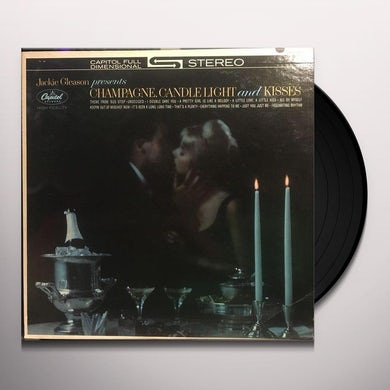 Jackie Gleason CHAMPAGE CANDLELIGHT & KISSES (BONUS TRACK) Vinyl Record - 180 Gram Pressing