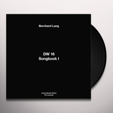 Bernhard Lang DW 16 / SONGBOOK I Vinyl Record