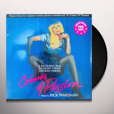 Rick Wakeman CRIMES OF PASSION / Original Soundtrack Vinyl Record