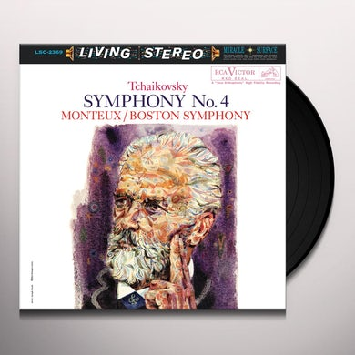Pierre Monteux TCHAIKOVSKY: SYMPHONY NO. 4 Vinyl Record
