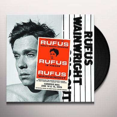 Rufus Wainwright RUFUS DOES JUDY AT CARNEGIE HALL Vinyl Record