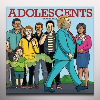 Adolescents CROPDUSTER Vinyl Record - Colored Vinyl, 180 Gram Pressing, Red Vinyl