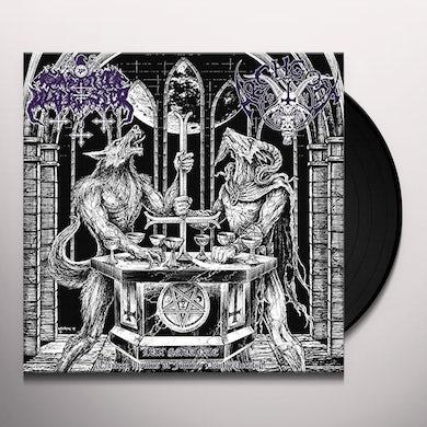 SATANIC WARMASTER / ARCHGOAT LUX SATANAE Vinyl Record