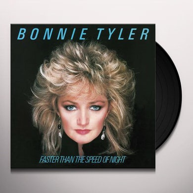 Bonnie Tyler FASTER THAN THE SPEED OF NIGHT - Limited Edition 180 Gram Translucent Blue Colored Vinyl Record
