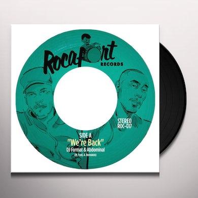 DJ Format & Abdominal WE'RE BACK / DIAMOND HAMMER Vinyl Record