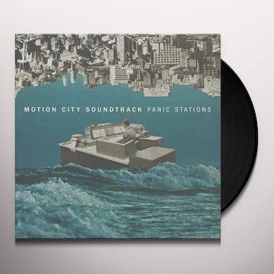 Motion City Soundtrack PANIC STATIONS (BLUE/WHITE) Vinyl Record